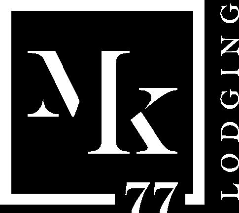 Logo MK77 apartamentos blanco colapsado